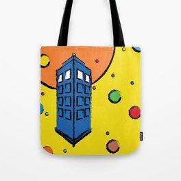 Pop Art Tardis Tote Bag