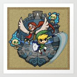 Legend of Zelda Wind Waker Earth Temple T-Shirt Art Print