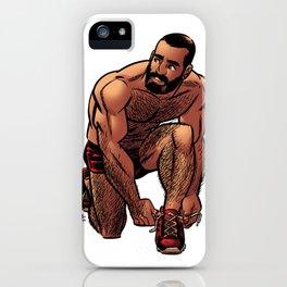 Shirtless Jogger iPhone Case