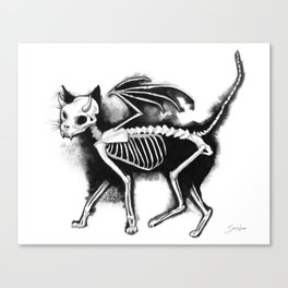 Devil Kitty Canvas Print