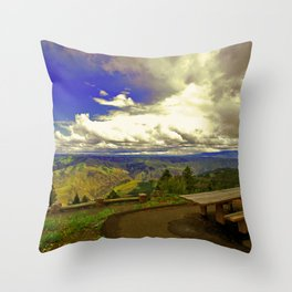 Table with a View Throw Pillow