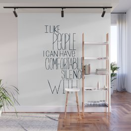 Comfortable Silence Wall Mural
