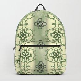 SMOKY GREEN & CREAM COLOR ART Backpack