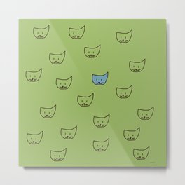 cats on green Metal Print