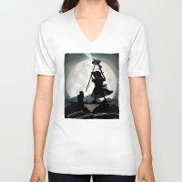 gandalf V-neck T-shirts featuring Gandalf Kid by Andy Fairhurst Art