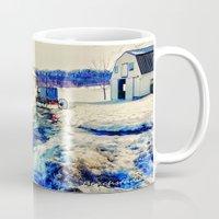 farm Mugs featuring Amish Farm by BeachStudio