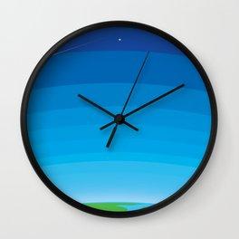 Wild BlueYonder Wall Clock