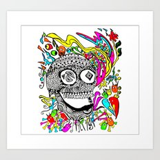 The Candy Skull Art Print