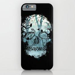 Dark Forest Skull iPhone Case