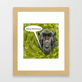 Feeling Mischevious Framed Art Print