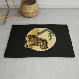Tiger with magpie type-B : Minhwa-Korean traditional/folk art Rug