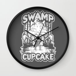SWAMP CUPCAKE — Halloween vintage horror 80' Wall Clock