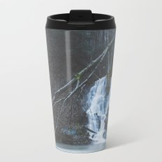 Emerging waterfall after the flood Travel Mug