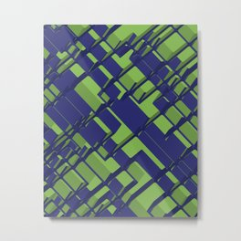 3D Abstract Futuristic Background III Metal Print
