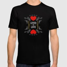 Loved to Love Black Mens Fitted Tee MEDIUM