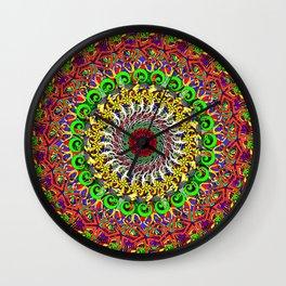 Koru Mandala Wall Clock