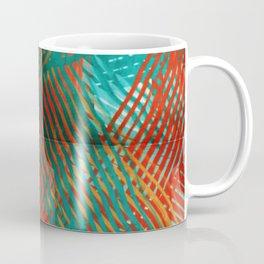 Red and Turquoise Weave Coffee Mug