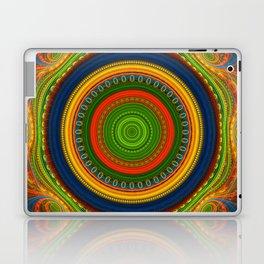 Groovy colourful fractal mandala with lace-like patterns Laptop & iPad Skin