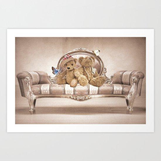 Teddies Art Print