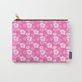 Pink Hibiscus Honu Hawaiian Pattern Carry-All Pouch