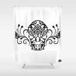 SKULL FLOWER 04 Shower Curtain