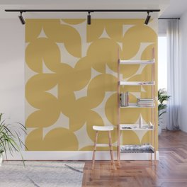 Abstract Geometric Shapes - Golden Orange Wall Mural