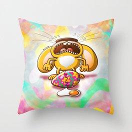 Desperate Easter Bunny Throw Pillow