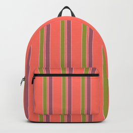 Coral Stripes Backpack