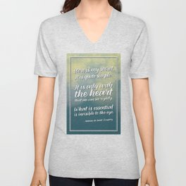 """Here is my secret"" Quote Unisex V-Neck"