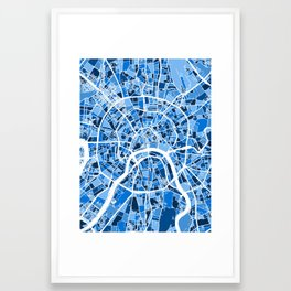 Moscow City Street Map Framed Art Print