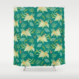 KINGFISHERS PARTY Shower Curtain