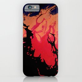 Red, Orange and Black Halloween Night; Fluid Abstract 5 iPhone Case
