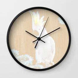 Cockatoo woodland Wall Clock