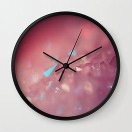 Crystallize Geometric Macro Dreams Wall Clock