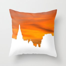 Sunset over London skyline bywhacky Throw Pillow