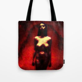 """NUDE """"walk in red"""" Tote Bag"""