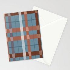 Urban Earth Tone Plaid  Stationery Cards