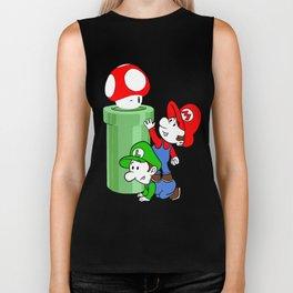 Mario and Luigi chasing the Mushroom Biker Tank