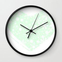 Christmas Heart Background Wall Clock
