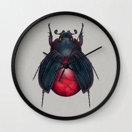 Red Jasper Beetle Wall Clock