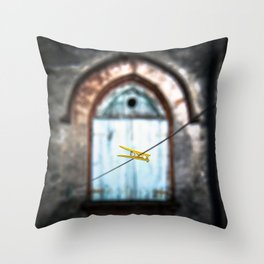 clothes peg Throw Pillow