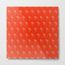F ((cherry red)) Metal Print