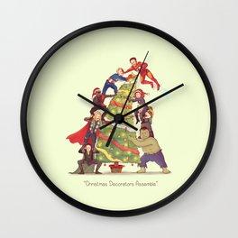Christmas Decorators Assemble! Wall Clock