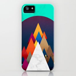 066 - Owly climbing the coloured holy mountain iPhone Case