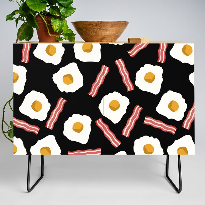Eggs And Bacon Kids Room Decor Boys And Girls Black Room Nursery Foodie Breakfast Credenza By Charlottewinter