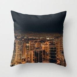 Somewhere in China – City by night Throw Pillow
