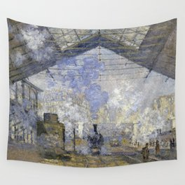 1877-Claude Monet-The Saint-Lazare Station-75 x 104 Wall Tapestry