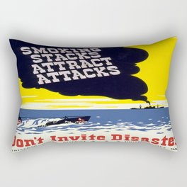Vintage poster - Don't Invite Disaster Rectangular Pillow