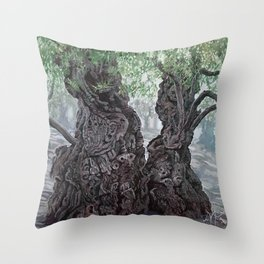 Garden of Prayer Throw Pillow