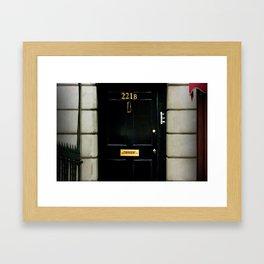221B Baker Street BBC Sherlock Framed Art Print